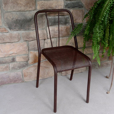 Metal Perforated Stacking Chair