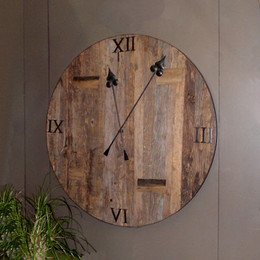 Reclaimed Wood Railroad Clock