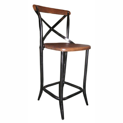 Cross Back Counter Stool