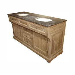 Double Bath Tiered Vanity (Click for video)