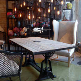 Industrial Crank Dining Table (6ft)