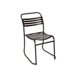 Outdoor Iron Slat Chair