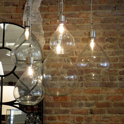 Vintage industrial glass sphere pendant lights wine bottle lights aloadofball