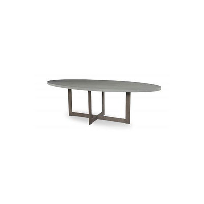 Steel Base Dining Table