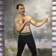 vintage boxer oil painting