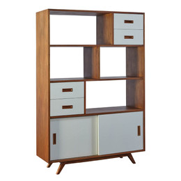 Retro Mahogany Bookcase