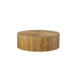 wood sunburst coffee table