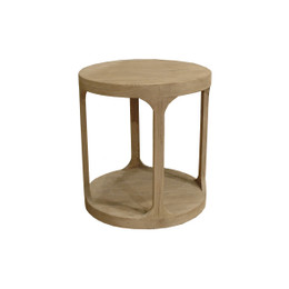 Circular Wood Side Table