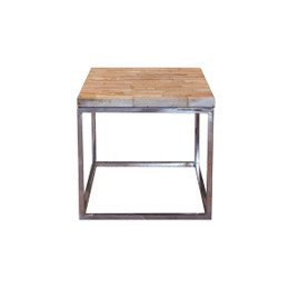 recycled wood side table