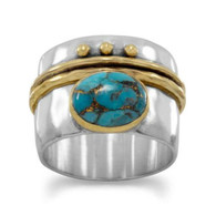 """""""Chelsea"""" Turquoise Ring"""