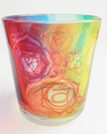 Chakras Printed Glass Votive