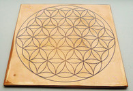 Sacred Geometry Flower of Life Copper Plate