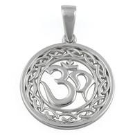 """OM"" Sterling Silver Necklace"