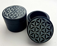 Flower of Life Black Soapstone Box