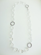 """""""Ice"""" Clear Quartz Crystal Necklace"""