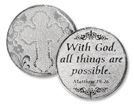 """""""With God, all things are possible"""" Pocket Coin"""