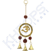 """OM"" Brass Bell Chime with Radraksha"