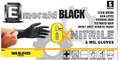 By popular demand – these heavy duty 6 Mil nitrile gloves are perfect for tough jobs. Their sleek black color make them the preferred nitrile glove for everything from automotive to tattoo use. Non-latex formula features powder-free finish and exam grade level protection. Please call today for a free sample of 6X Black Emerald Nitrile Gloves! 100 gloves per dispenser box, except for XXL, 90 gloves per box. 10 boxes per case.
