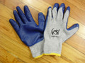 Cotton Knit Gloves with Blue Palm Coating Heng Rui