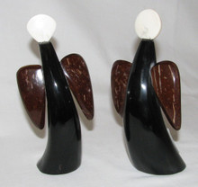 Fair Trade Horn, Bone, and Coconut Shell Angel Figurine from Nicaragua