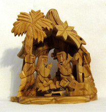 Fair Trade Olive Wood Nativity from the Holyland