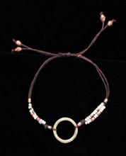 Fair Trade Mixed Metal Bullet Casing Bead Bracelet from Ethiopia