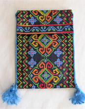 Fair Trade Embroidered Cross Body Purse made by Syrian Women