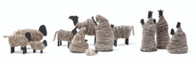 Fair Trade Wool and Wood Nativity Set from West Bank