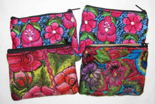 Fair Trade Repurposed Embroidered Huipil Coin Purse from Guatemala