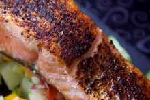 Chipotle rubbed on Salmon