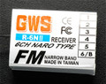GWS 6-Channel Naro Receiver (Futaba) w/ Vertical Pin