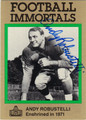 ANDY ROBUSTELLI AUTOGRAPHED FOOTBALL CARD #100112E