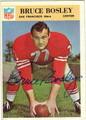 BRUCE BOSLEY AUTOGRAPHED VINTAGE FOOTBALL CARD #100112S