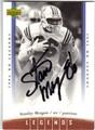 STANLEY MORGAN AUTOGRAPHED FOOTBALL CARD #100112Q