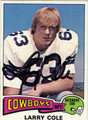 LARRY COLE AUTOGRAPHED VINTAGE FOOTBALL CARD #100212W