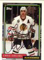 CHRIS CHELIOS AUTOGRAPHED HOCKEY CARD #100312P