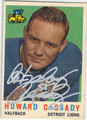 HOWARD CASSADY DETROIT LIONS AUTOGRAPHED VINTAGE FOOTBALL CARD #100213C