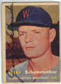 JERRY SCHOONMAKER WQASHINGTON SENATORS AUTOGRAPHED VINTAGE BASEBALL CARD #100213H