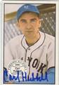 CARL HUBBARD NEW YORK GIANTS AUTOGRAPHED VINTAGE BASEBALL CARD #100213J