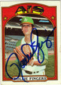 ROLLIE FINGERS AUTOGRAPHED VINTAGE BASEBALL CARD #100312E