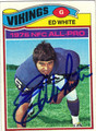 ED WHITE AUTOGRAPHED VINTAGE FOOTBALL CARD #100312B