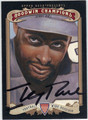 JERRY RICE AUTOGRAPHED FOOTBALL CARD #100412D
