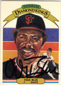 VIDA BLUE SAN FRANCISCO GIANTS AUTOGRAPHED VINTAGE BASEBALL CARD #100513K