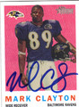 MARK CLAYTON AUTOGRAPHED FOOTBALL CARD #100611i