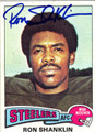 RON SHANKLIN AUTOGRAPHED VINTAGE FOOTBALL CARD #100612B