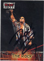 "DWAYNE ""THE ROCK"" JOHNSON AUTOGRAPHED WRESTLING CARD #100513H"