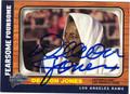DEACON JONES LOS ANGELES RAMS AUTOGRAPHED FOOTBALL CARD #100513E