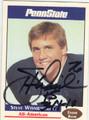 STEVE WISNIEWSKI PENN STATE NITTANY LIONS AUTOGRAPHED FOOTBALL CARD #100613F