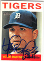 VICTOR MARTINEZ DETROIT TIGERS AUTOGRAPHED BASEBALL CARD #100613C