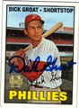DICK GROAT PHILADELPHIA PHILLIES AUTOGRAPHED BASEBALL CARD #100613i
